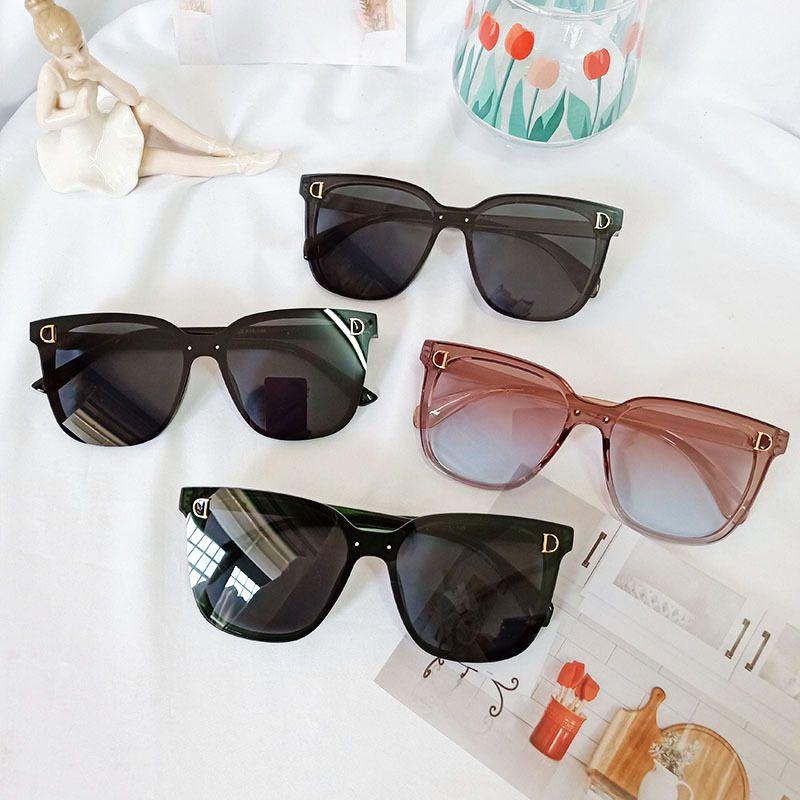 New Polarized Fashion square Trendy Korean Wild Sunglasses  NHBA244845