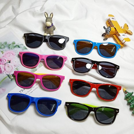 new children's round  Korean baby silicone polarized sunglasses wholesale nihaojewelry NHBA244850's discount tags