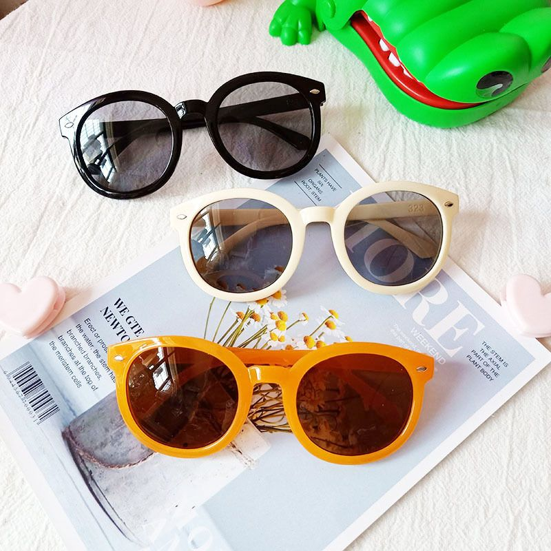 new retro round frame arrow UV protection glasses fashion sunglasses wholesale nihaojewelry NHBA244857