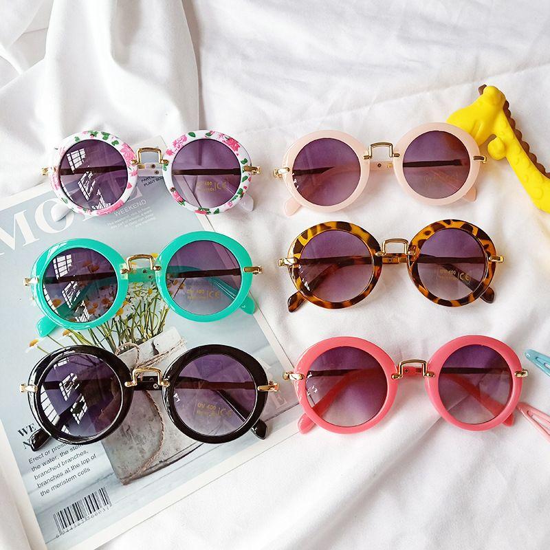 new fashion childrens sunglasses antiultraviolet radiation round glasses wholesale nihaojewelry NHBA244860