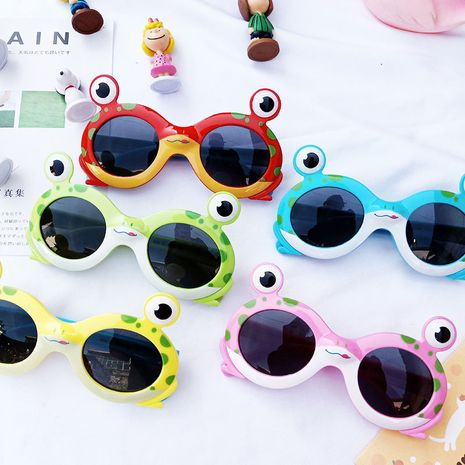 cartoon frog children silicone polarized glasses baby decoration sunshade sunglasses wholesale nihaojewelry NHBA244869's discount tags