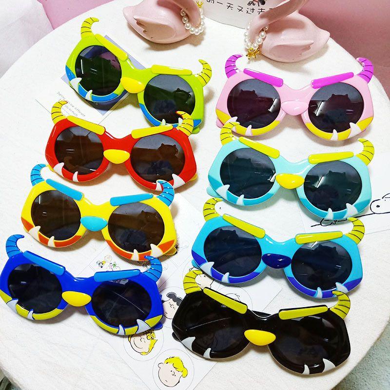 Cute Childrens Polarized UV Protection Goggles Cartoon Mavericks Silicone Sunglasses wholesale  NHBA244871