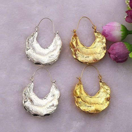 Boucles d'oreilles en alliage en forme de U à lustre métallique concave-convexe NHJQ244884's discount tags