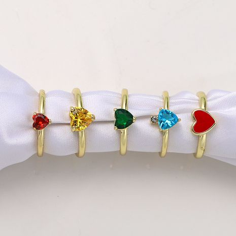 color rhinestone inlaid open copper inlaid zirconium series ring wholesale nihaojewelry NHJQ244885's discount tags