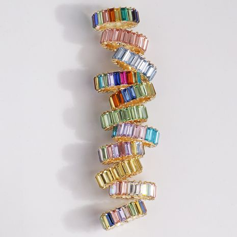 hot-selling copper ring fashion gold-plated color zircon ring wholesale nihaojewelry NHJJ244891's discount tags