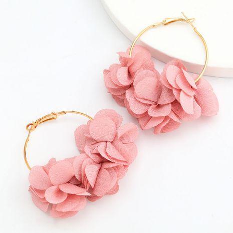 hot sale alloy fabric flower earrings sexy earrings wholesale nihaojewelry NHJE244895's discount tags