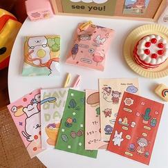 Cute bear snacks biscuit candy split self-adhesive greaseproof paper ziplock packaging bag NHZE244966