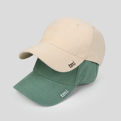 Korean tide niche tide brand letter embroidery wild fashion baseball cap for women NHTQ244987's discount tags