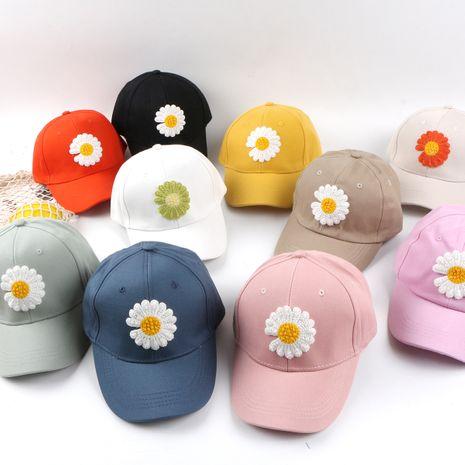 Gorra de béisbol con flor de margarita para niños Gorra de color sólido de hip-hop coreano al por mayor nihaojewelry NHTQ245004's discount tags