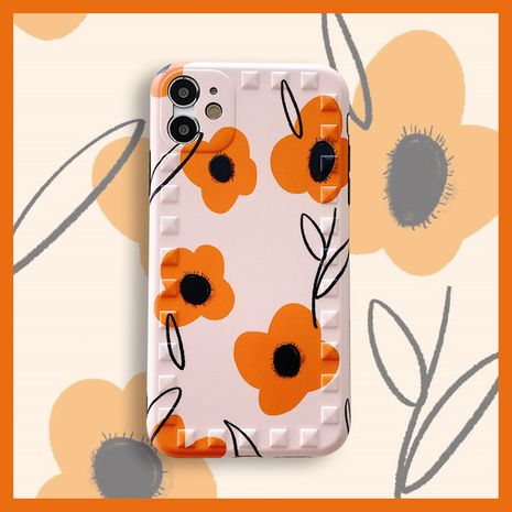 Orange Flower Apple 11Pro Max All Inclusive Camera Willow Nail Phone Case pour 8plus Protection SE2 XR NHFI245038's discount tags
