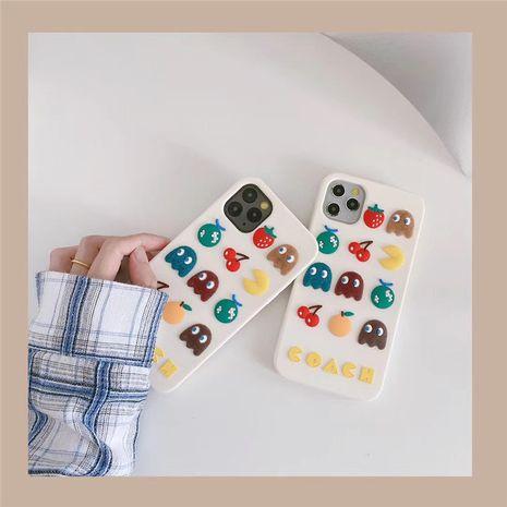 Corea pintando la caja del teléfono de dibujos animados para iphonexs se2 XR silicona al por mayor nihaojewelry NHFI245049's discount tags