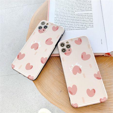 caja rosa pequeña del teléfono móvil del amor para el iphone se2 Huawei P40pro suave caso al por mayor nihaojewelry NHFI245051's discount tags