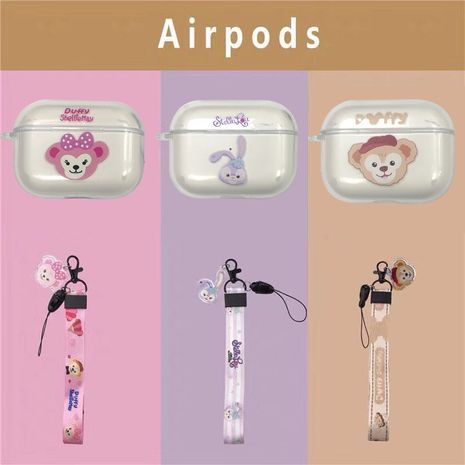 Cute cartoon soft shell anti-drop lanyard for Airpods pro wireless bluetooth headset  NHFI245059's discount tags