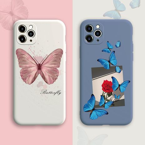 caja del teléfono ins net red pink butterfly para iPhone11pro / xsmax liquid se2 Huawei P40 NHFI245060's discount tags