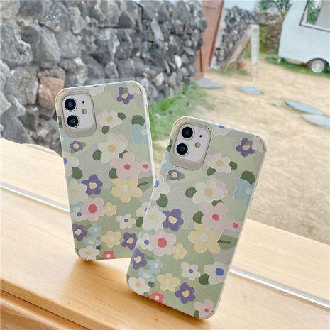 Pequeña flor verde fresca para 11Pro xs max Apple X XS XR funda para teléfono móvil iPhone7p silicona SE2 NHFI245064's discount tags