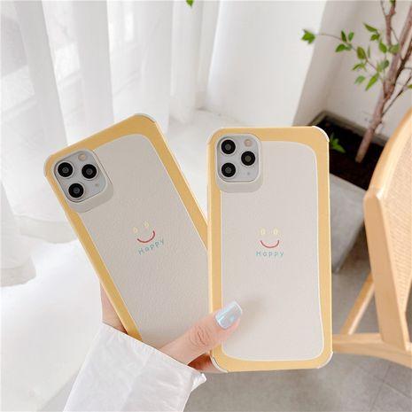 caja amarilla del teléfono de la sonrisa para iPhone11pro Max caja del teléfono de la pareja de Apple se2 soft shell XR en relieve de seda NHFI245090's discount tags