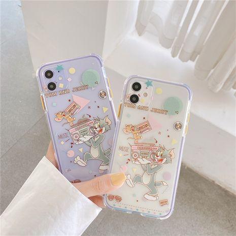 Cute dibujos animados iphone11Pro / Max funda para teléfono móvil transparente soft shell al por mayor nihaojewelry NHFI245091's discount tags