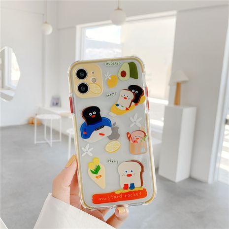 Cute dibujos animados pan tostado iphone 11Pro / Max funda para teléfono móvil transparente cáscara blanda al por mayor nihaojewelry NHFI245092's discount tags