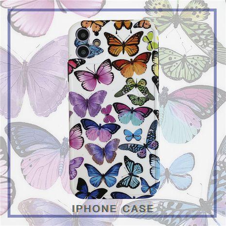 color mariposa iphone 11Pro / Max todo incluido funda para teléfono soft shell al por mayor nihaojewelry NHFI245093's discount tags