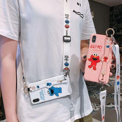 Caja del teléfono móvil de la pulsera del cordón de Sesame Street de la historieta para el iphone XS Max / XR de Huawei nova5 NHFI245096's discount tags