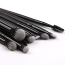 Hot Sale 9 ManMade Fiber Makeup Brushes Black Wooden Handle Eyeshadow Brush Set Beauty Tools NHAY244756