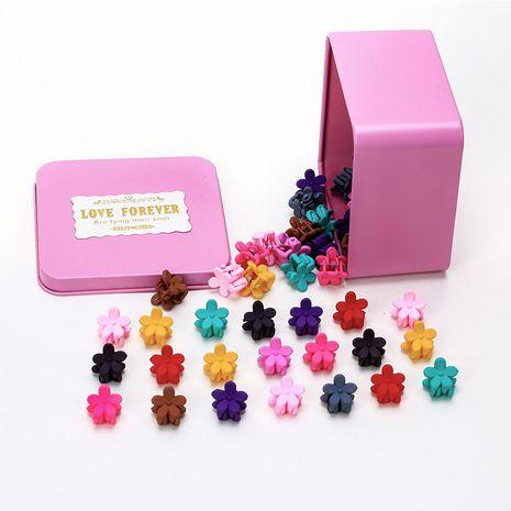 Niños coreanos 50 capturas de cabello en caja mini conjunto de horquillas florales garra para el cabello accesorios para el cabello para niñas clip de captura pequeña para bebés NHNU244679's discount tags