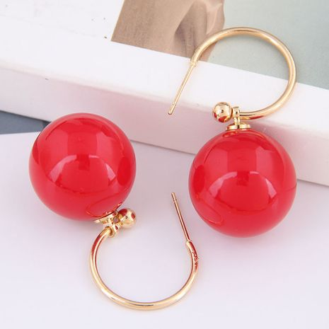925 argent aiguille mode coréenne boucles d'oreilles en alliage de perles douces et élégantes NHSC245524's discount tags