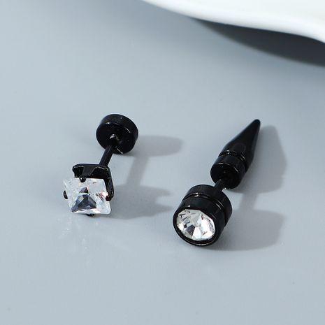 Pendientes de circonio de cristal de diamantes de imitación de línea de tendencia de personalidad creativa NHPS245441's discount tags