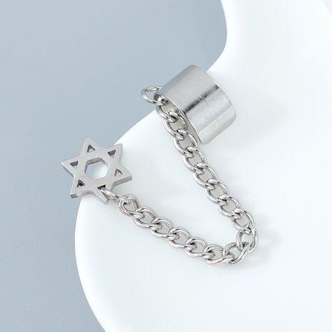moda creativa simple popular estrella de seis puntas pendientes individuales de un solo lado NHPS245448's discount tags