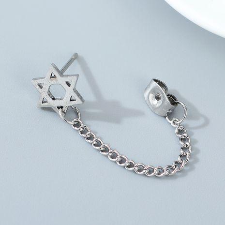 Pendientes de estrella hexagonales unilaterales creativos de personalidad de moda coreana NHPS245451's discount tags