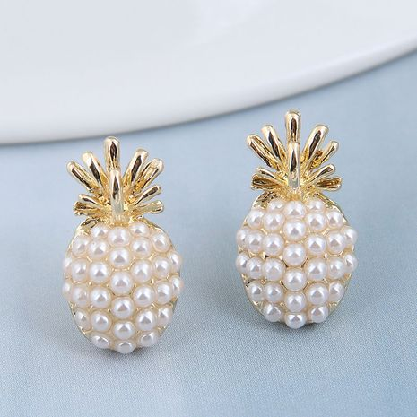 925 Silver Needle  Korean Fashion Metal Strawberry Pearl alloy Small Stud Earrings NHSC245523's discount tags