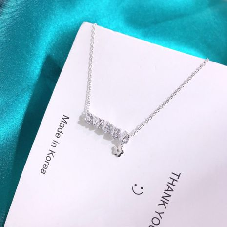 S925 silver simple necklace NHKL245471's discount tags