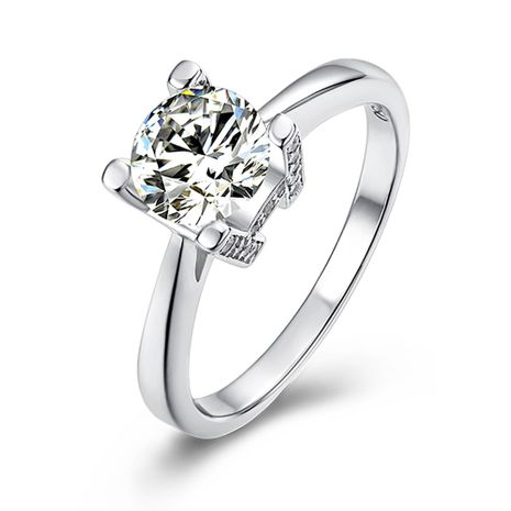 H Letter S925 Silver Platinum Plated Moissanite 1 Carat Class D Ring NHKL245484's discount tags