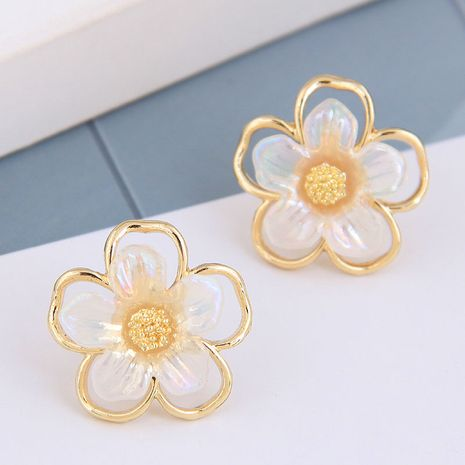 925 Silver Needle  Korean Fashion Sweet Petal alloy Stud Earrings NHSC245521's discount tags
