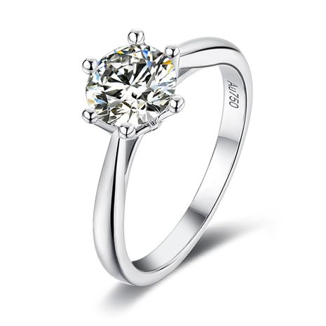 S925 Silver Platinum Plated Moissan Diamond 1 Carat Class D Ring NHKL245489's discount tags
