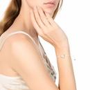 Korean crystal peach heart multicolor rope imitation natural stone bracelet wholesale  NHAN245199