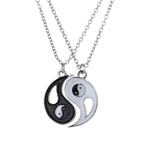 Hot Selling Tai Chi Yin Yang Couple Friend Necklace  wholesale nihaojewelry NHAN245200's discount tags