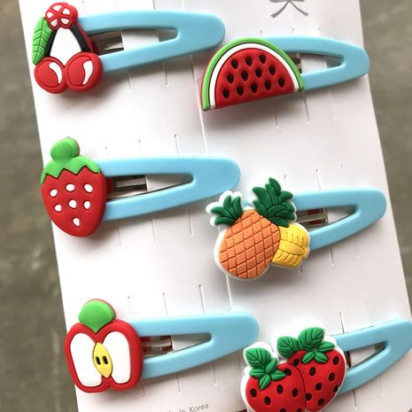 Korean children fruit hairpin baby hairpin cute hair accessories side bangs clip wholesale nihaojewelry NHDI245204's discount tags