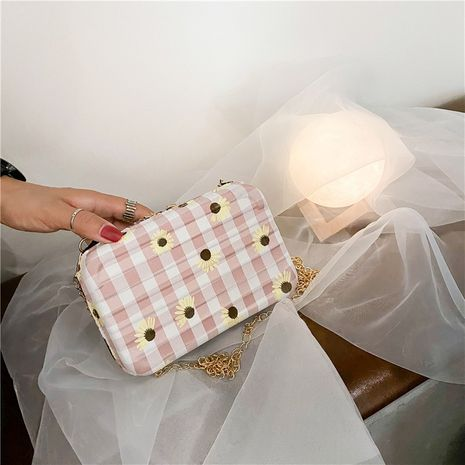 Plaid cloth chain messenger bag popular summer fashion one shoulder wholesale nihaojewelry NHXC245206's discount tags