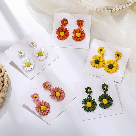 Pendientes geométricos dulces de color de flor de margarita coreana NHPF245245's discount tags