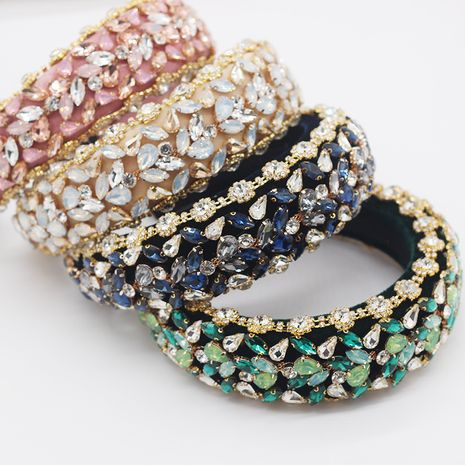 Baroque full diamond fashion exaggerated sponge diamond ladies prom headband  wholesale  NHWJ245254's discount tags