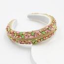 New Baroque full diamond sponge headband ladies colorful rhinestone headband  wholesale  NHWJ245255