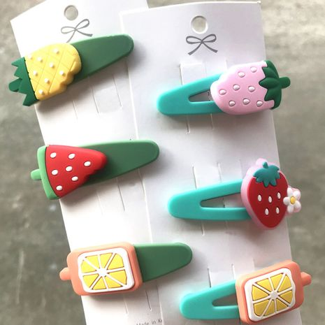 Korean cute cartoon broken hair bb clip headdress wholesale nihaojewelry NHDI245504's discount tags