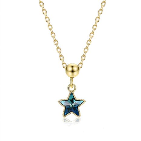 fashion 925 sterling silver five-pointed star necklace NHKL245455's discount tags