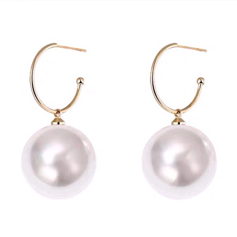925 Silver Needle Korean Fashion Sweet and Elegant Pearl alloy Stud Earrings NHSC245517's discount tags