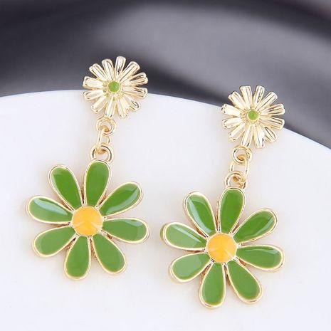 925 silver needle Korean fashion wild daisy chrysanthemum alloy earrings NHSC245514's discount tags