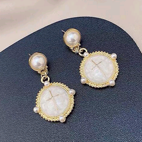 925 Silver Needle  Korean Fashion Concise Saturn Shape alloy Stud Earrings NHSC245511's discount tags