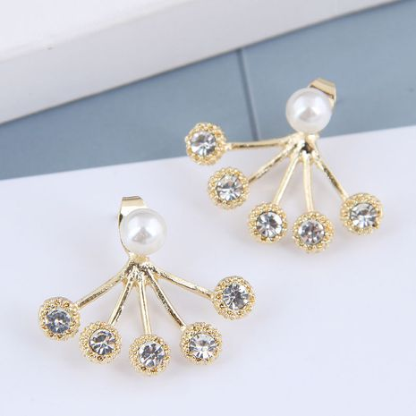 925 Silver Needle  Korean Fashion Metal Concise Flash Diamond alloy Stud Earrings NHSC245510's discount tags