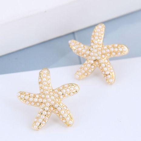 925 argent aiguille coréenne mode métal simple étoile de mer boucles d'oreilles en alliage de perles NHSC245507's discount tags