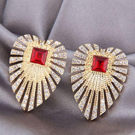 925 argent aiguille alliage mode métal simple clignotant ailes de diamant boucles d'oreilles NHSC245506's discount tags
